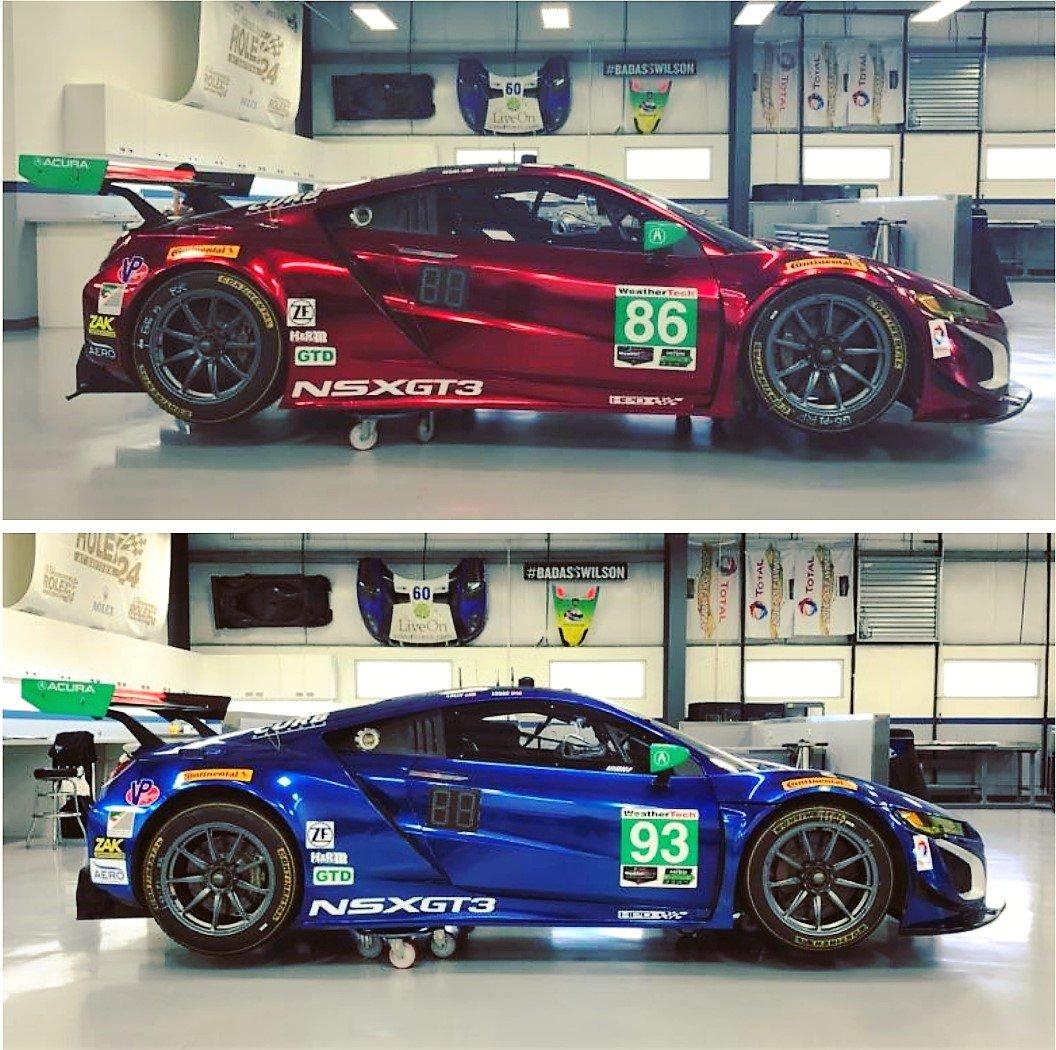 Road America : Les Acura NSX GT3/Michael Shank Racing