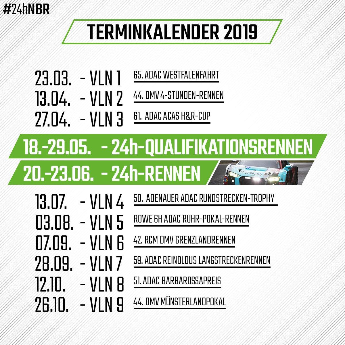 Calendrier H Cup.Le Calendrier Vln 2019 Devoile Endurance Info