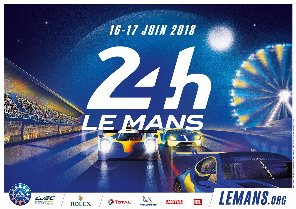 l affiche des 24 heures du mans 2018 se d voile endurance info. Black Bedroom Furniture Sets. Home Design Ideas