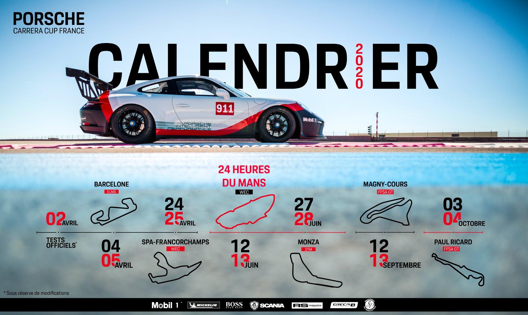 Calendrier Magny Cours 2020.Un Calendrier Cinq Etoiles Pour La Porsche Carrera Cup
