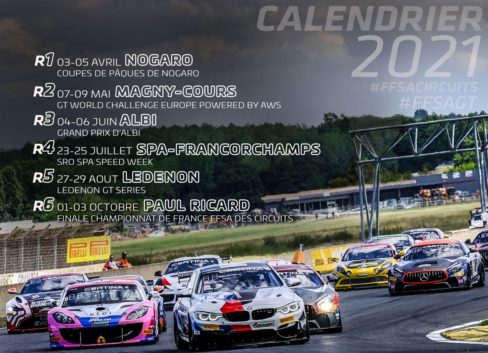 Circuit Ledenon Calendrier 2021 Le FFSA GT officialise son calendrier 2021 | Endurance info